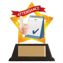 Attendance Mini-Star Acrylic Award